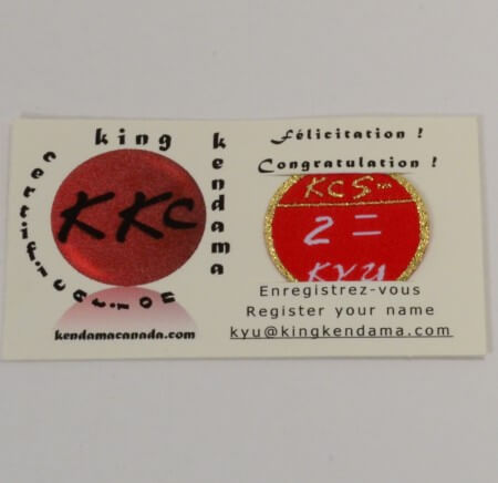 Kendama Canada - Badge de Certification PRO KYU - Kyu 2