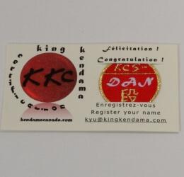 Kendama Canada - Badge de Certification PRO KYU - Dan 1