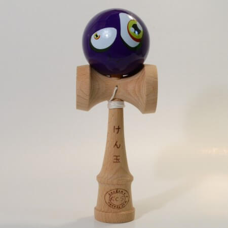 Kendama Canada - Kendama KCS - balle visage Mauve Mal au Coeur - Funny Purple face kendama - Unique!