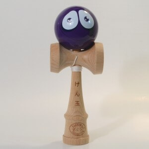 Kendama Canada - Kendama KCS - balle visage Mauve Sourire - Purple Smiling face kendama - Unique!