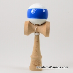 Kendama Canada – Kendama KCS – balle blanche bande bleue - White ball with Blue Stripe