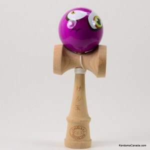 Kendama Canada  Kendama KCS  balle visage Lger Mauve Mal au coeur  Light Purple funny face kendama  Unique!