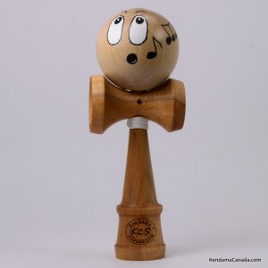 Kendama Canada  Kendama KCS du Qubec  Collection Prestige  modle Unique au monde en Cerisier  balle rable Visage siffleu