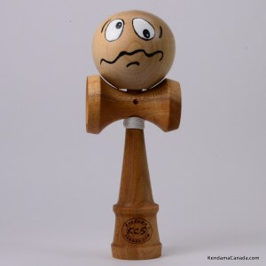 Kendama Canada  Kendama KCS du Qubec  Collection Prestige  modle Unique au monde en Cerisier  balle rable Visage tourdi