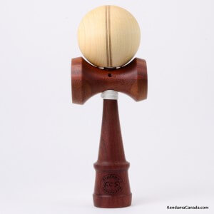 Kendama Canada  Kendama KCS du Qubec  Collection Prestige  modle Unique au monde en Acajou  balle rable Split 3 lignes