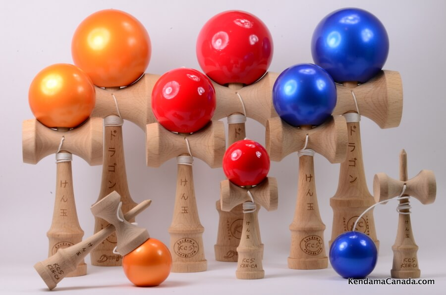 Kendama Canada – Kit de 3 kendamas – Kit Trio - 3 formats de 3 kendama - 3 different sizes kendama kit