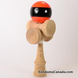 Kendama Canada – Kendama KCS 5 coupes – orange black stripe / orange bande noir