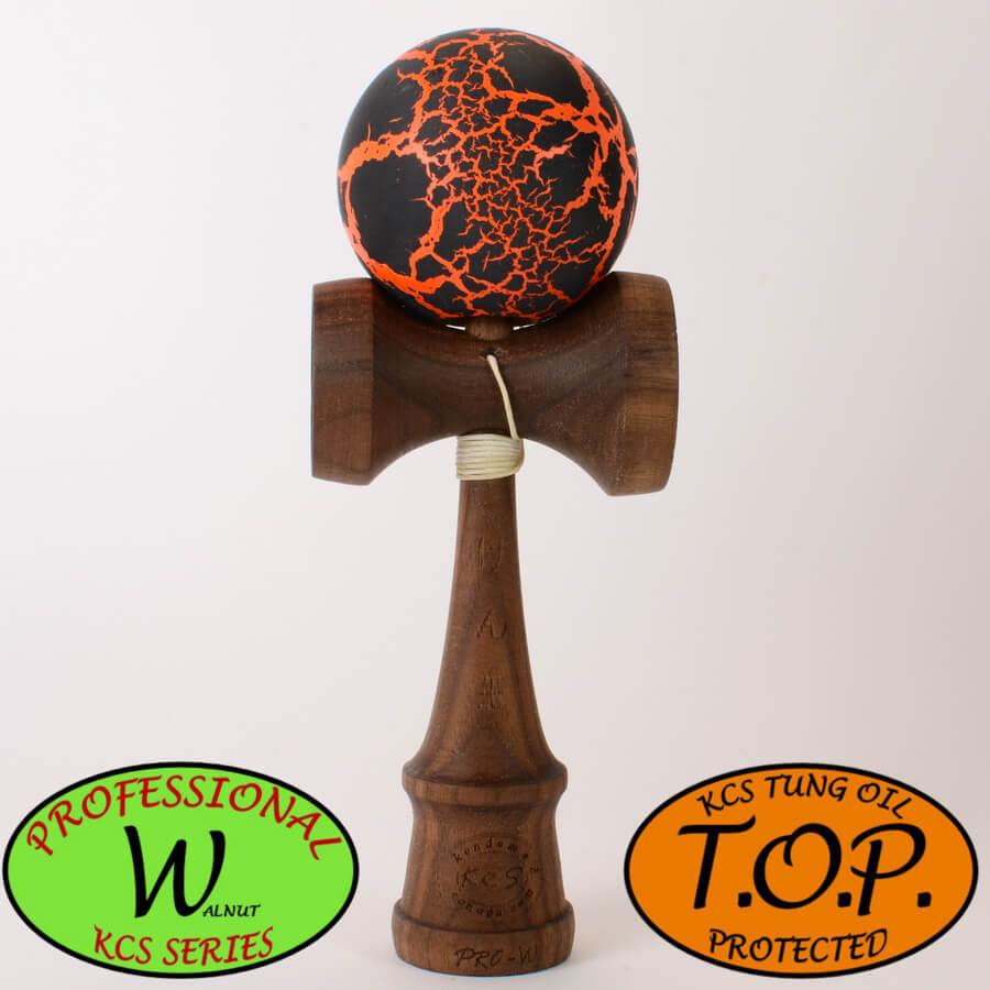 Kendama Canada – Kendama KCS Pro-Kendama Canada – Kendama KCS Pro-W - Walnut - Noyer - TOP - noir orange meteor black orangeW - Walnut - Noyer - TOP