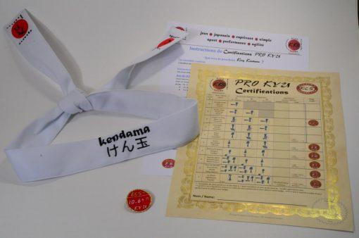 Kendama Canada - Certifications Pro KYU - Bandeau Blanc