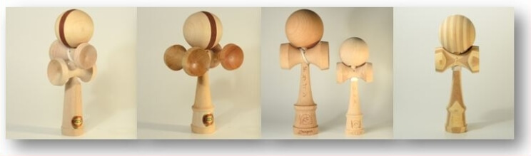 Kendama Canada – Kendama Spécial - 5 coupes - Smile - Enjoy - Jumbo - Dragon - Bamboo