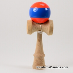 Kendama Canada – Kendama KCS – balle orange bande bleue - Orange ball with blue Stripe
