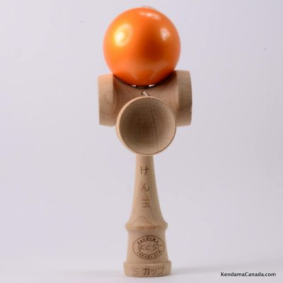 Kendama Canada – Kendama KCS 5 coupes - balle orange métallisée