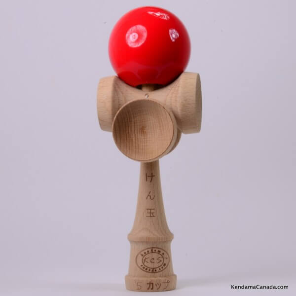 Kendama Canada – Kendama KCS 5 coupes – balle rouge