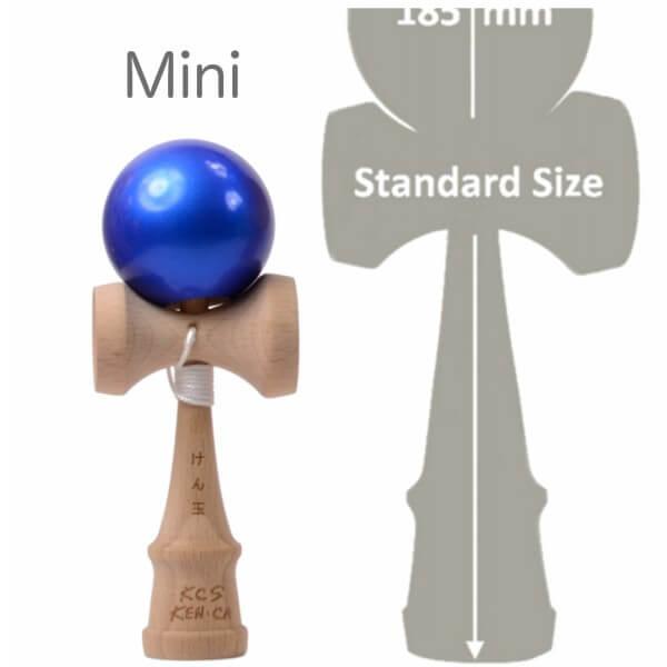 Kendama Canada – Kendama format Mini - balle bleu métallisée