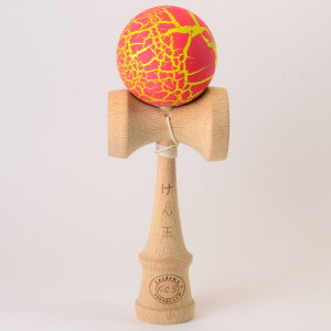 Kendama Canada – Kendama KCS – meteor rouge jaune / red yellow
