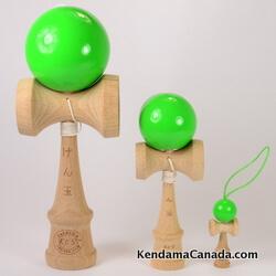 Kendama Canada – Kit de 3 kendamas – Kit Trio 3 formats de 3 kendama verts– 3 different sizes green kendama kit