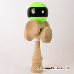Kendama Canada – Kendama KCS 5 coupes – green black stripe / vert bande noir