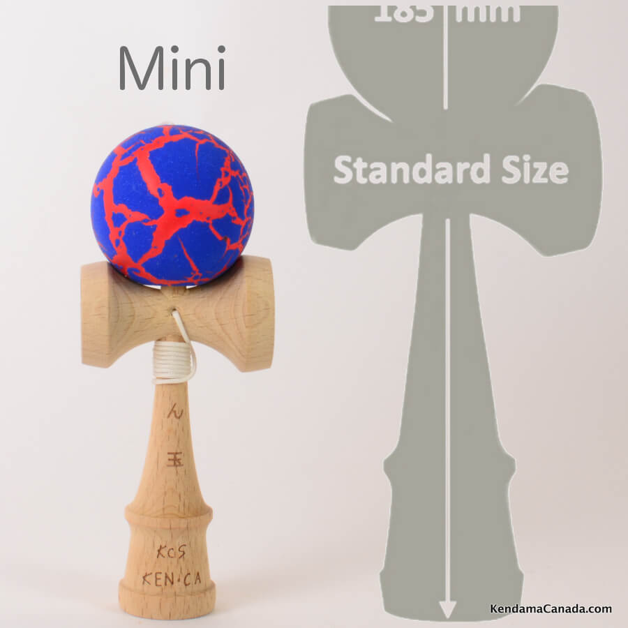 Kendama Canada – Kendama format Mini – bleu rouge meteor blue red
