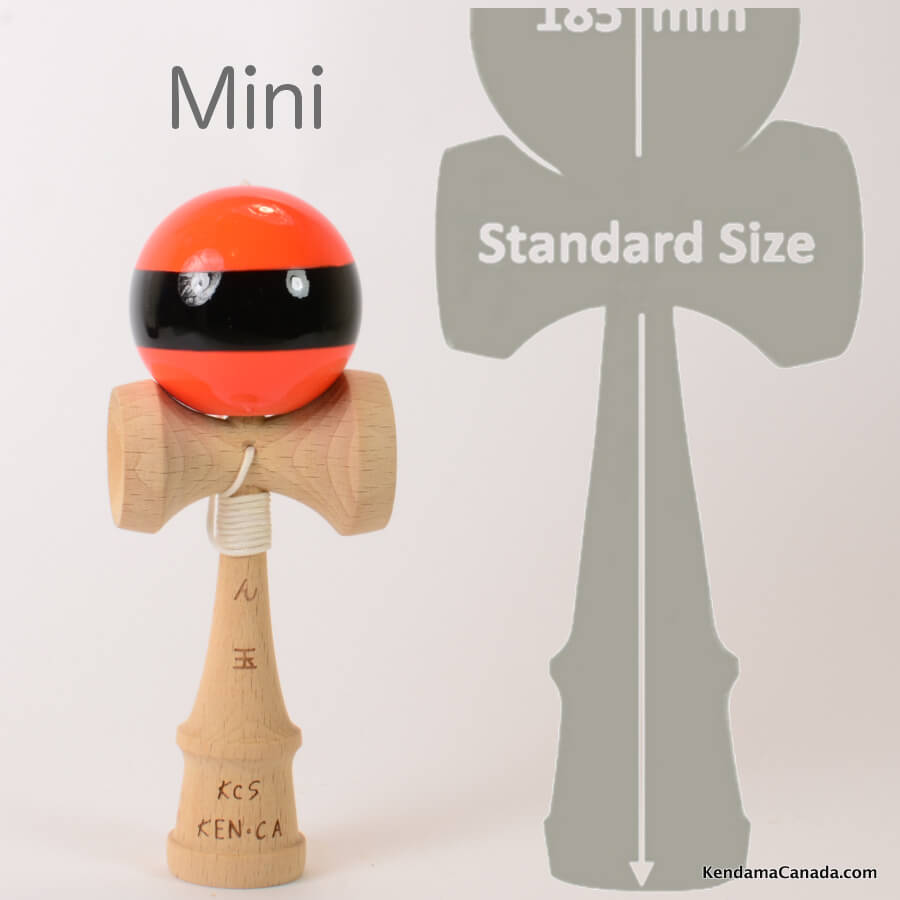 Kendama Canada – mini orange black stripe noir