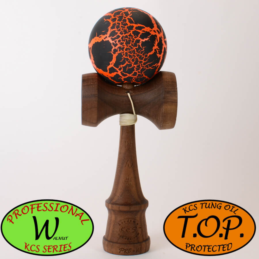 Kendama Canada – Kendama KCS Pro-Kendama Canada – Kendama KCS Pro-W - Walnut - Noyer - TOP - noir orange meteor black orangeW - Walnut - Noyer - TOP