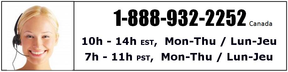 Kendama Canada – Numéro de téléphone sans frais – 1-888-932-2252 - Toll Free Number